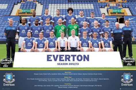 Everton FC 2012/13 Team Photo Poster