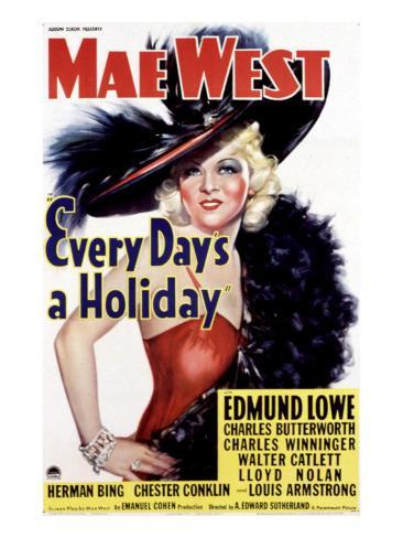 Every Day's a Holiday, Mae West, 1937 Photo