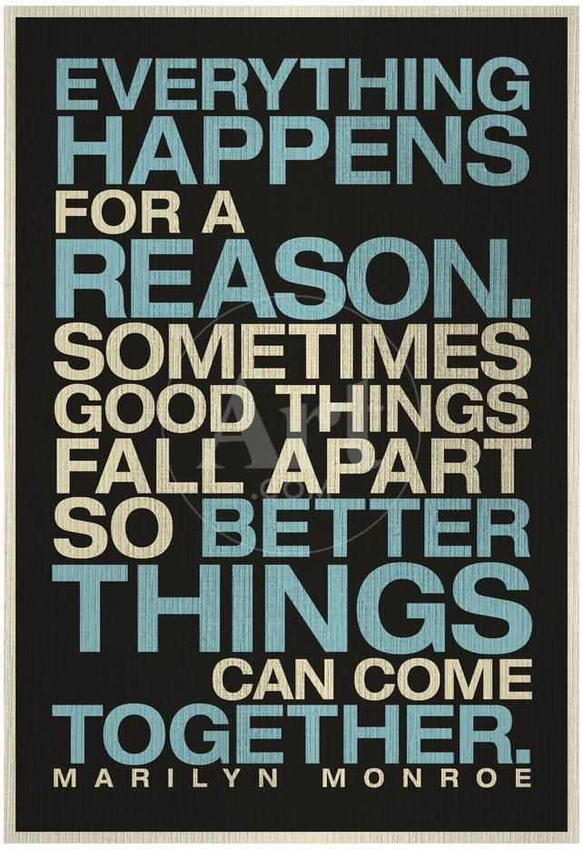 Everything Happens For A Reason Marilyn Monroe Quote Posters At