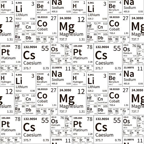 A lot of chemical elements from periodic table black and white a lot of chemical elements from periodic table black and white seamless pattern urtaz Images