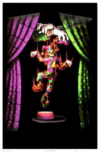 Evil Clown Blacklight Poster