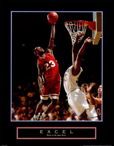 Excel: Basketball Art Print
