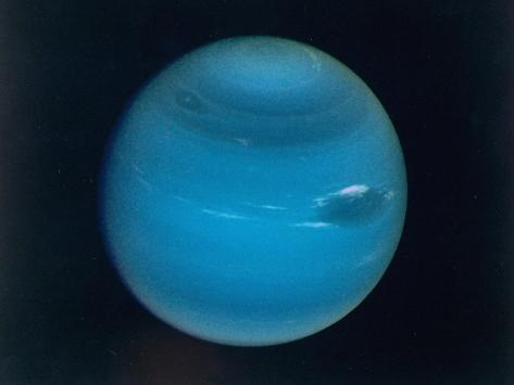 Excellent Narrow-Angle Camera Views of the Planet Neptune Taken from Voyager 2 Spacecraft Photographic Print