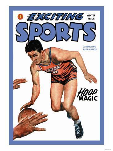 Exciting Sports: Hoop Magic Art Print