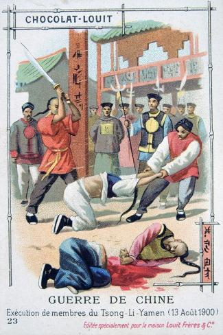 Execution of Members of Tsong-Li-Yamen, China, Boxer Rebellion, August 1900 Giclee Print