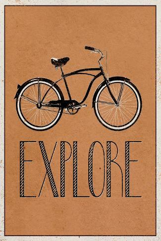 Explore Retro Bicycle Player Art Poster Print Póster