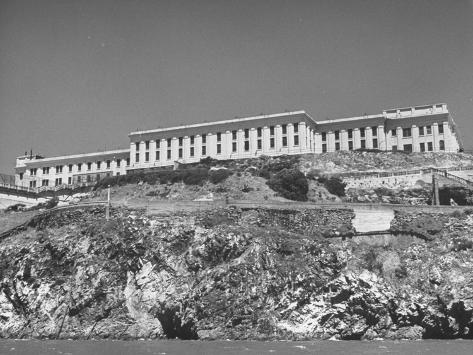 Exterior View of Alcatraz During Prison Riots Stretched Canvas Print
