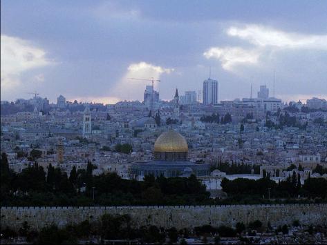 Mideast Israel Jerusalem Gala Stretched Canvas Print