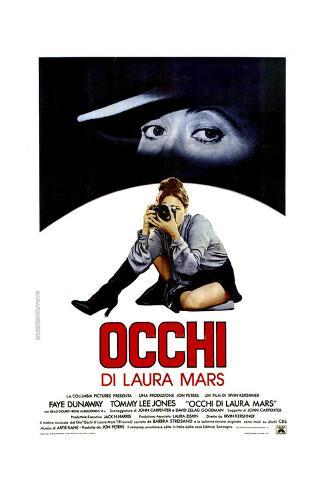 Eyes of Laura Mars, (aka Occhi Di Laura Mars), Italian Poster, Faye Dunaway, 1978 ジクレープリント