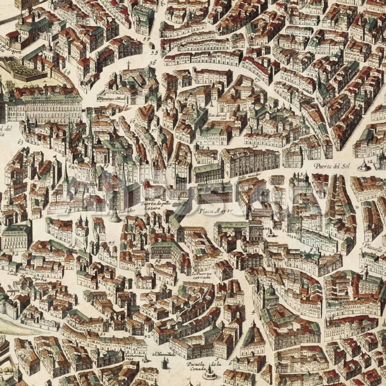 Mapa de Madrid Láminas por F. de Witt en AllPosters.es