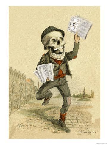 Death Brings the News Art Print