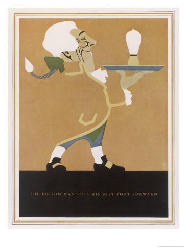 The Edison Lightbulb American Advertisement Giclee Print