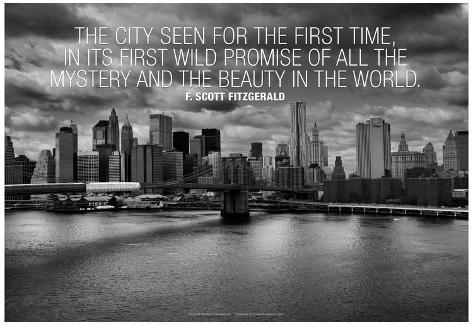F Scott Fitzgerald New York Quote Poster At Allposters Com