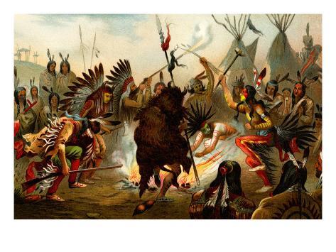 Native American Sioux Dance Stampa artistica