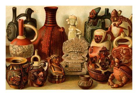 South American Indian Antiquities Stampa artistica