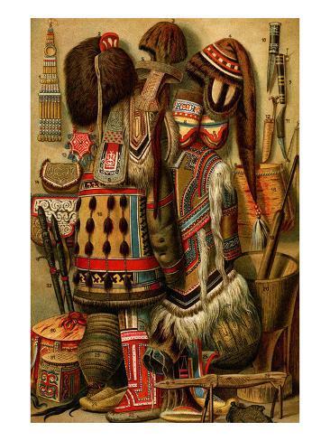 South American Indian Ornaments Art Print
