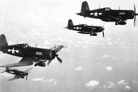 オールポスターズの f4u corsair planes us airforce used from 1943