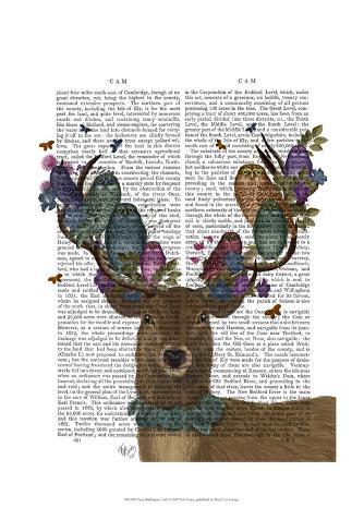 Deer Birdkeeper, Owls Art Print