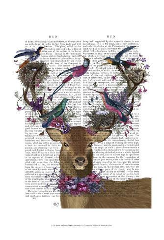 Deer Birdkeeper, Tropical Bird Nests Art Print