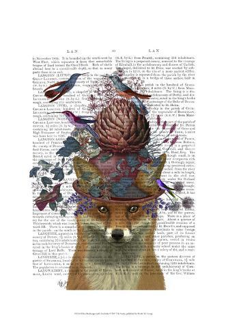 Fox Birdkeeper with Artichoke Art Print
