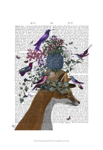 Fox Birdkeeper with Pineapple Art Print