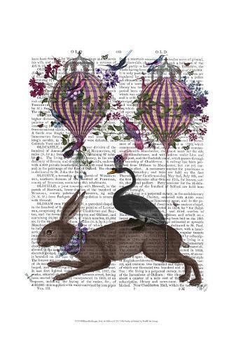 Hare Birdkeeper, Hot Air Balloon Art Print