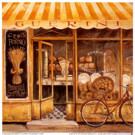 Italian Bakery Posters by Fabrice De Villeneuve - at AllPosters.com.au