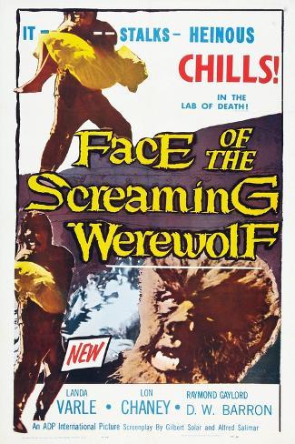 Face of the Screaming Werewolf, 1964 Art Print