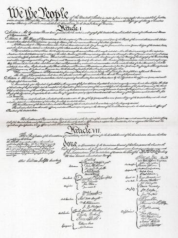 Facsimile of the Preamble and Constitution of the United States of ...