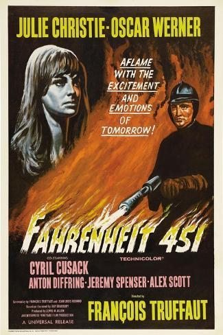 Fahrenheit 451, 1966, Directed by Francois Truffaut Giclee Print