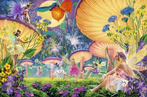 Fairy Ring (Fantasy Scene) Art Poster Print Poster