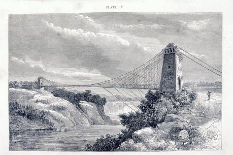 Falls View Suspension Bridge, Niagara, North America, C1869-C1889 Giclee Print