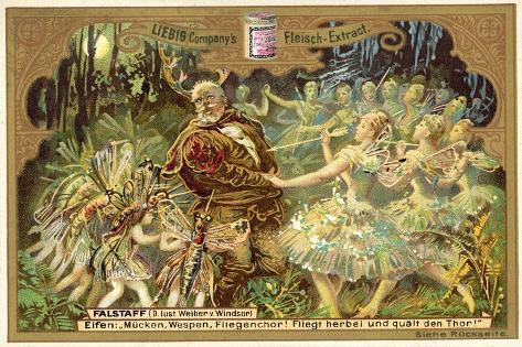 Falstaff Attacked by the Fairies Stampa giclée