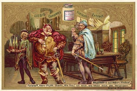 Falstaff in Shakespeare's the Merry Wives of Windsor Stampa giclée