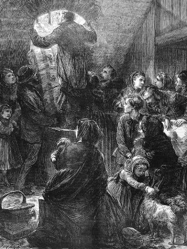 Family Life in Paris During the Paris Commune, 1871 Lámina fotográfica