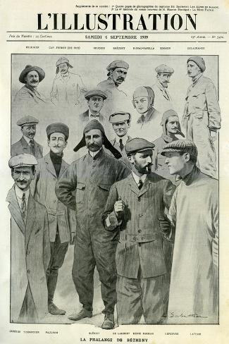 Famous Aviators, Cover of L'Illustration, 4 September 1909 Giclee Print