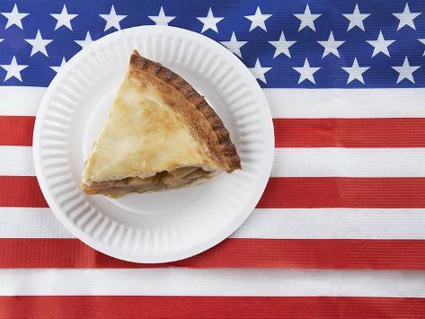 Patriotic apple pie Photographic Print
