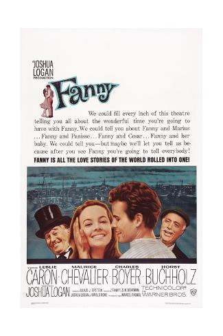 Fanny, from Left: Maurice Chevalier, Leslie Caron, Horst Buchholz, Charles Boyer, 1961 Impressão artística