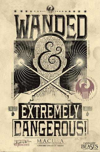 Fantastic Beasts And Where To Find Them- Extremely Dangerous Póster
