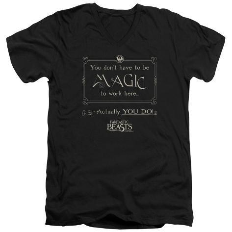 Fantastic Beasts- Magic To Work Here V-Neck V-Necks