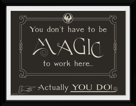 Fantastic Beasts - Magic Collector Print