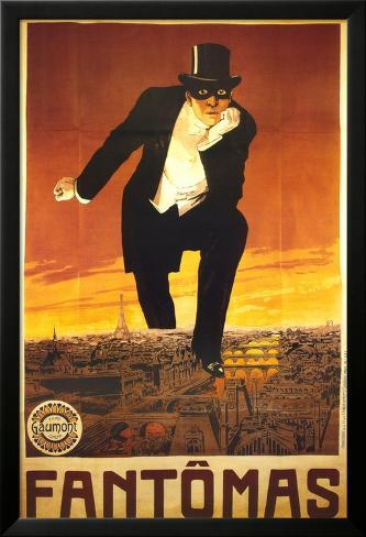 Fantomas Lamina Framed Poster