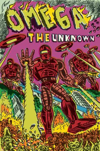 Omega: The Unknown No.7 Cover: Marvel Universe Poster