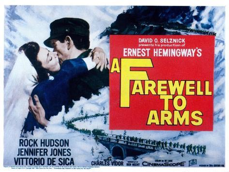 Farewell to Arms, Jennifer Jones, Rock Hudson, 1957 Foto