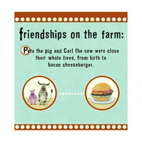 Farm Friendship Premium Giclee Print