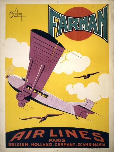 Farman Air Lines Art Print