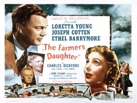 Farmer's Daughter, Joseph Cotton, Loretta Young, 1947 Photo