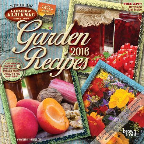 Farmers 39 Almanac Garden Recipes 2016 Mini Wall