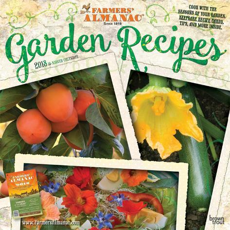 Farmers Almanac Garden Recipes 2018 Calendar Calendars
