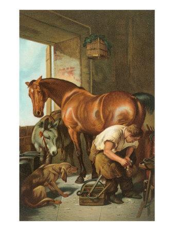 Farrier Shoeing Horse Posters At Allposters Com